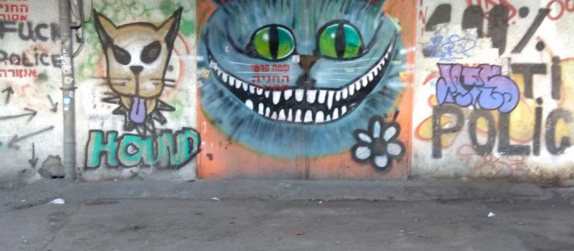 גרפיטי של חתול ממזרי